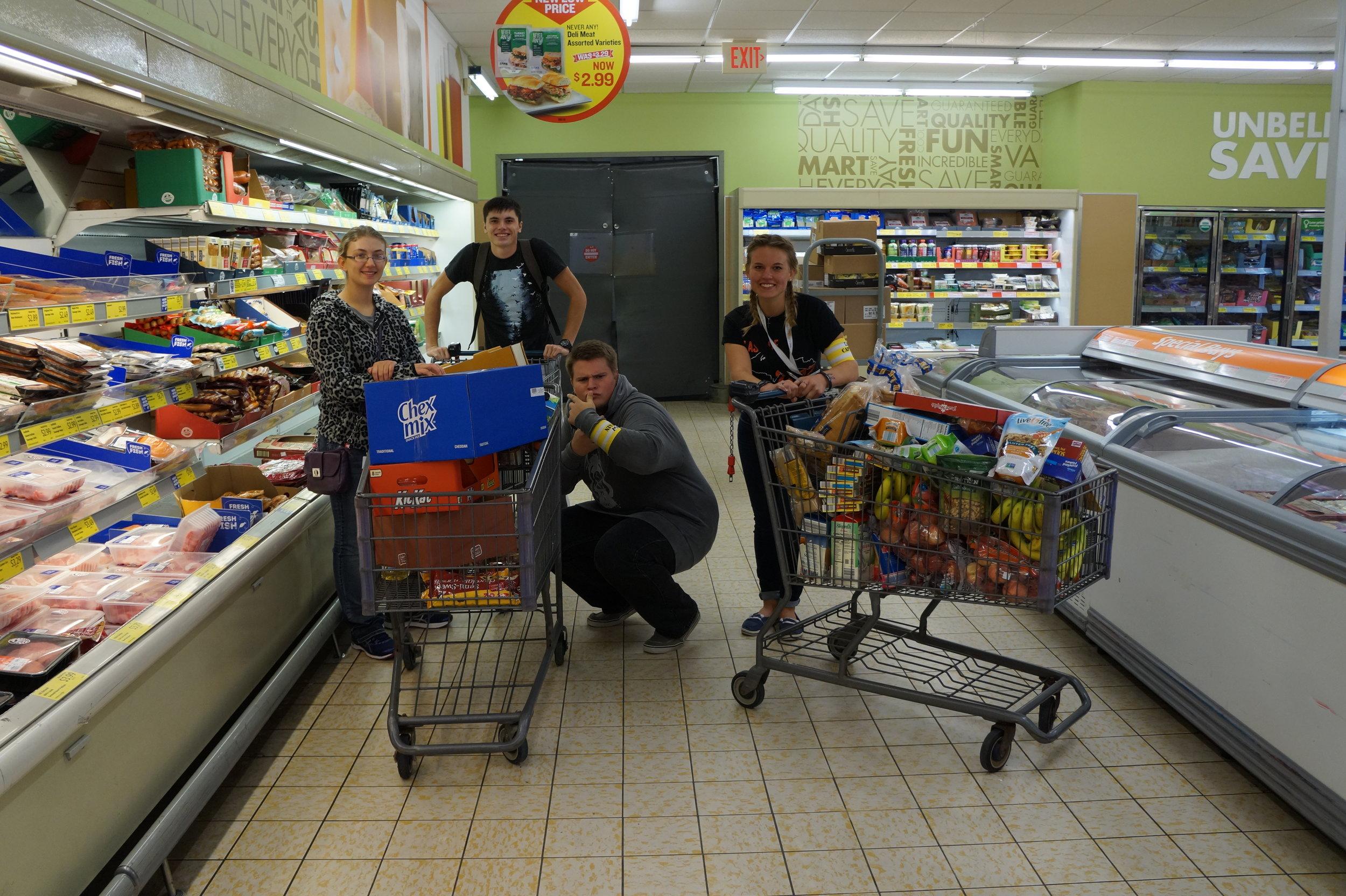 Grocery shopping for breakfast!