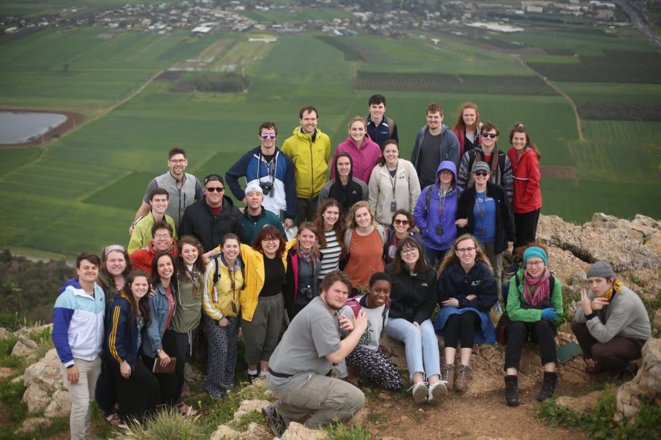 Lancaster OneLife on top of Mt. Precipice, overlooking the Jezreel Valley.