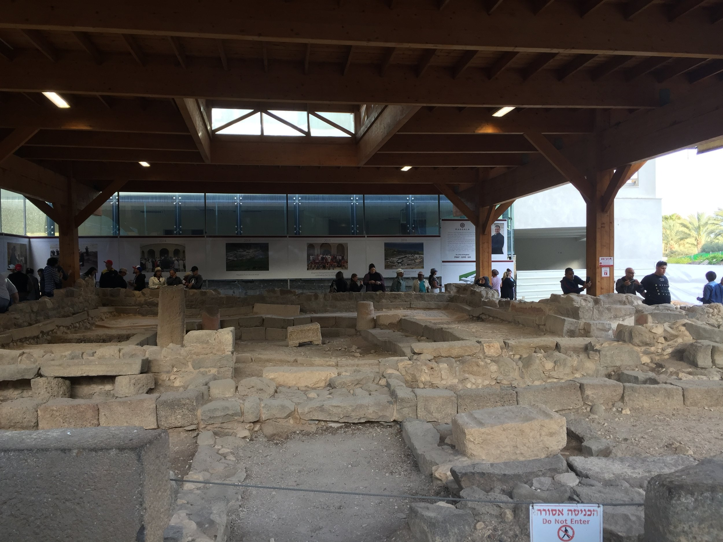 First century synagogue in Magdala.