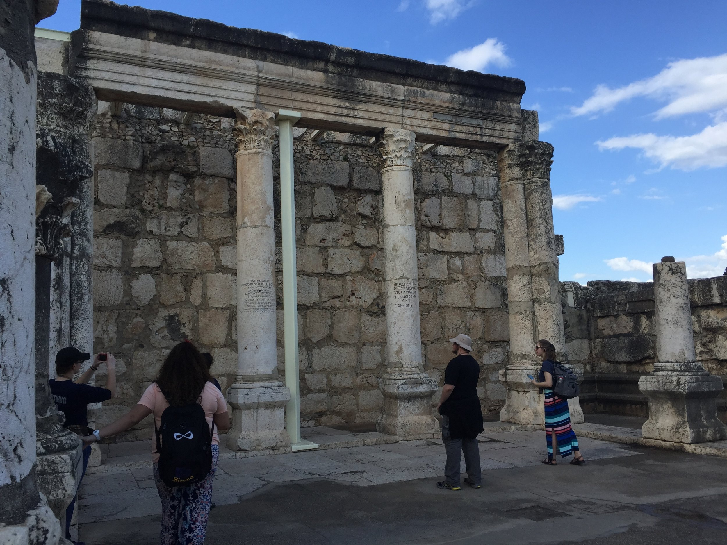 A forth century synagogue built on the ruins of a first century synagogue Jesus would've taught in.