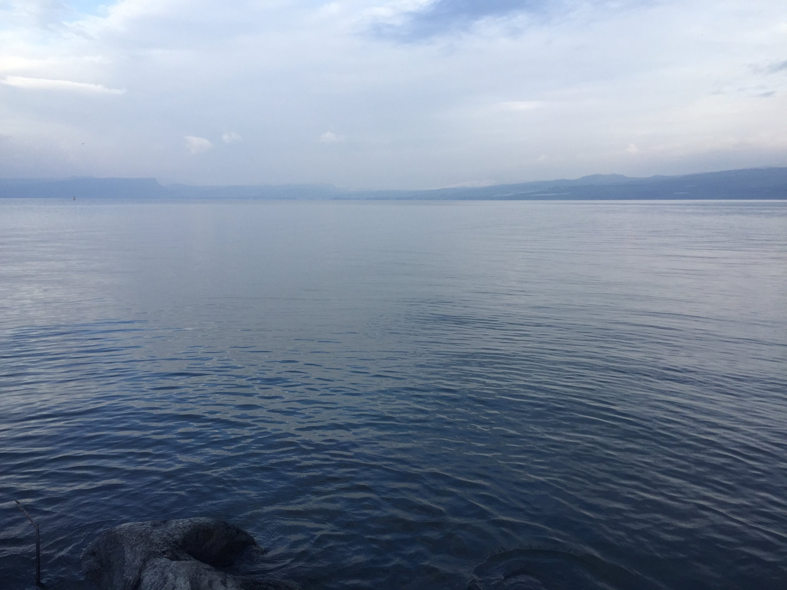 Morning on the Sea of Galilee.