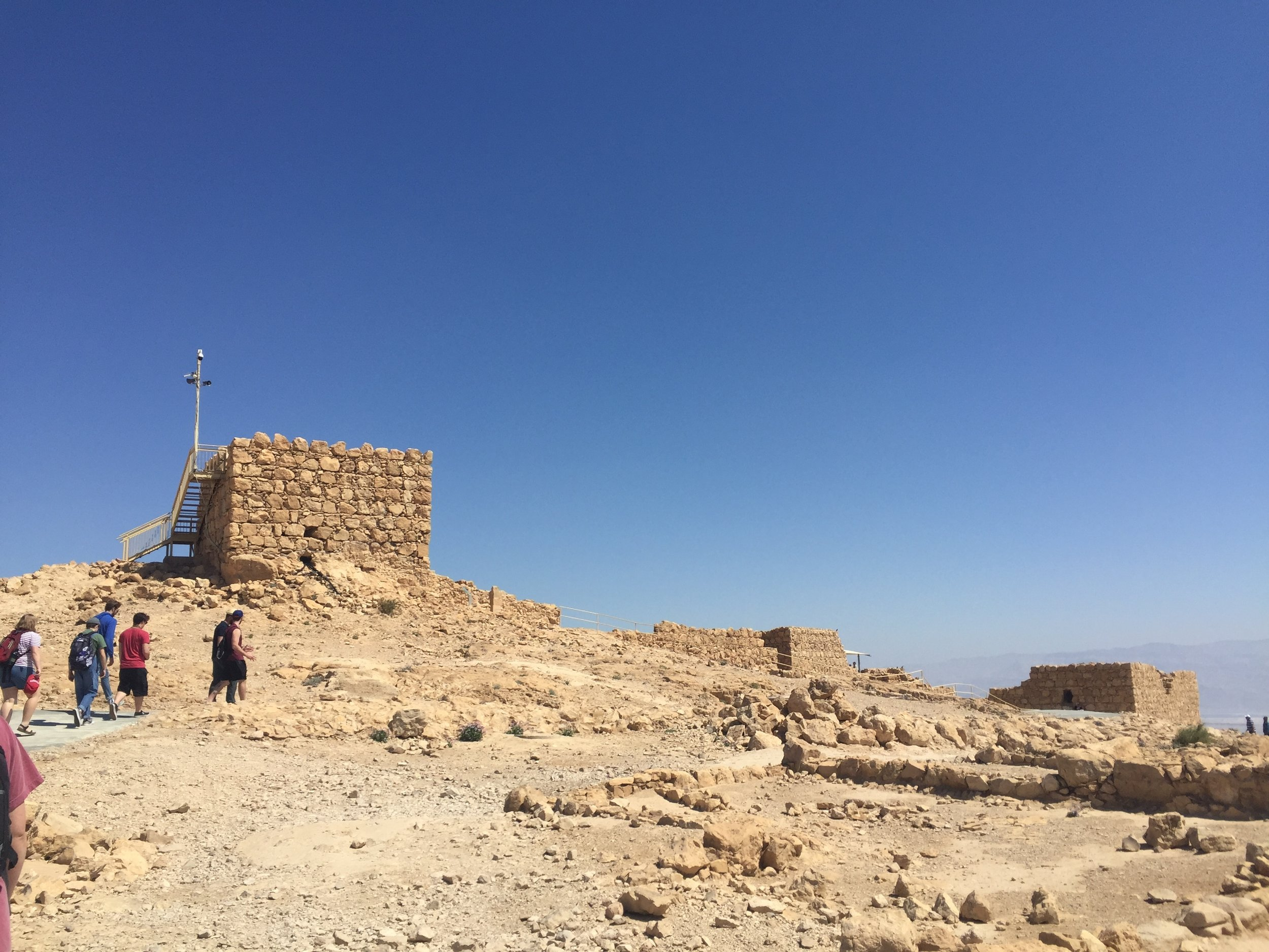 Part of the Fortress of Masada.