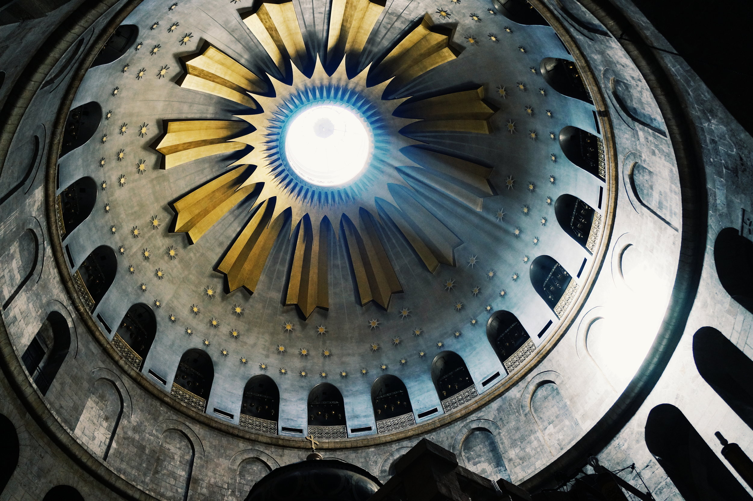 Inside the Church of the Holy Sepulchre.