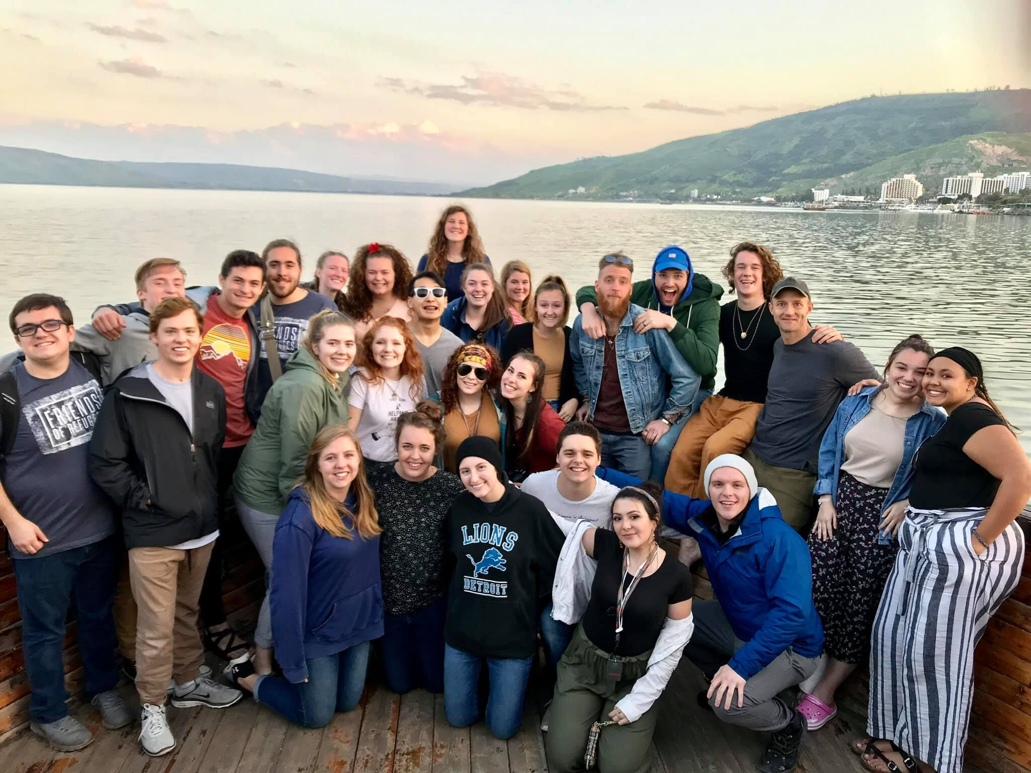 This is Clayton Lancaster with OneLife SWU on the Sea of Galilee in Israel of spring 2019.
