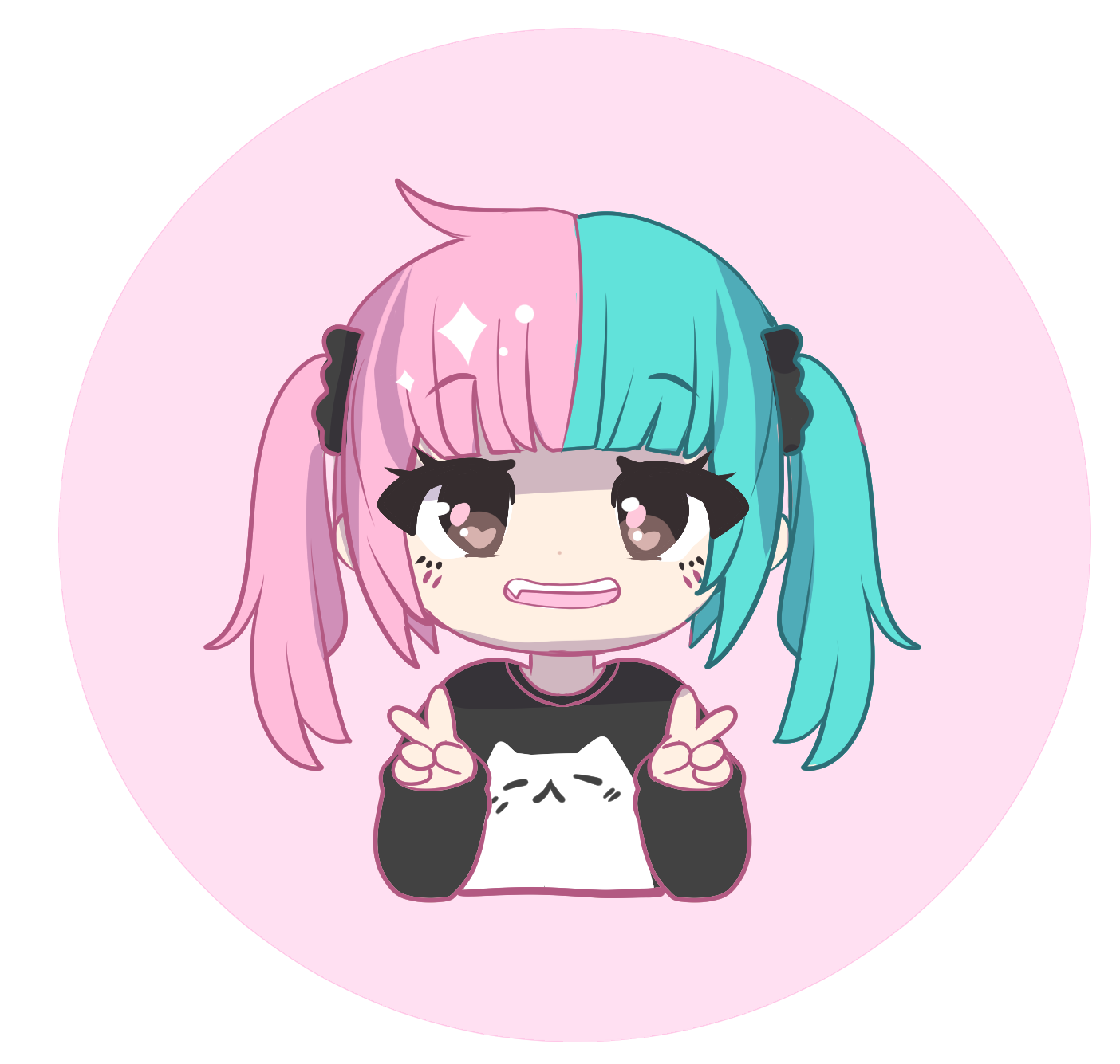 Hello! - Thank you for visiting my online shop! My name is Chrissy, also known as the artist behind Ohayou! Clothing. The brand is my online alias and how I present my clothing, enamel pins and other merchandise.