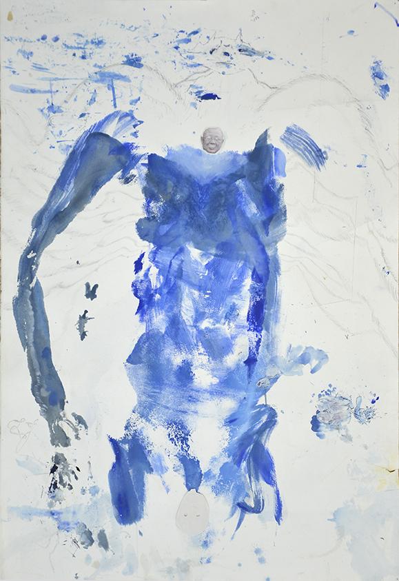 Bodies Politic VI,  acrylic, graphite, water-colour, transfer print on paper