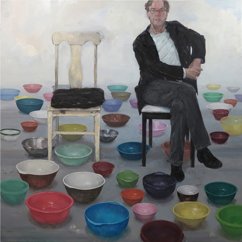 Picture of Jonathan Mills , oil on linen, 200 x 200cm
