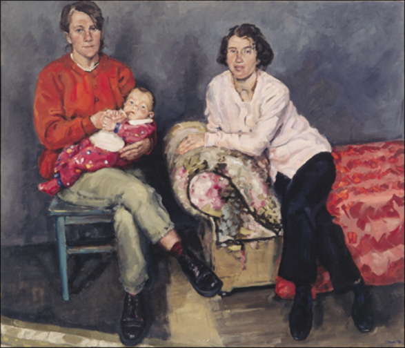 Two Women (The Sisters) , oil on linen, 126 x 147cm