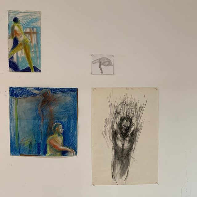 Life room drawings. #rmitdrawingstudio #rmitopenday2019
