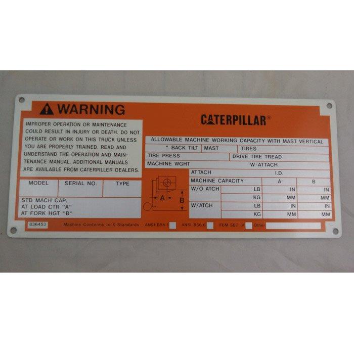 industrial engraving - custom machinery label