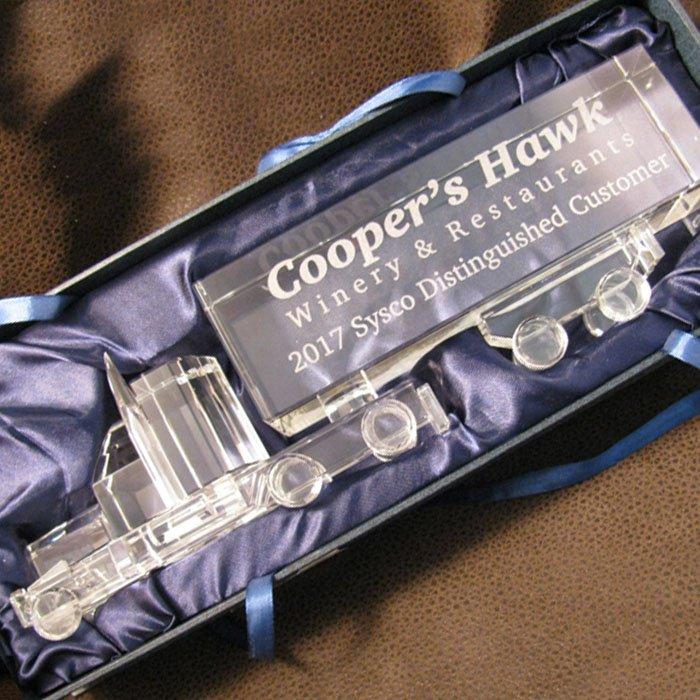 custom engraved glass award