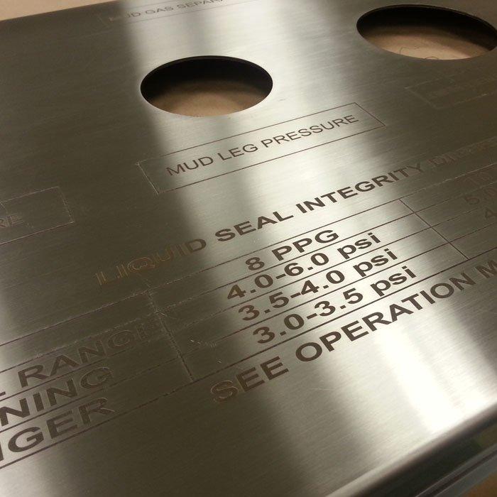 technical spec engraving