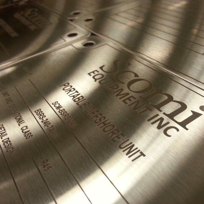 metal plaque engraving
