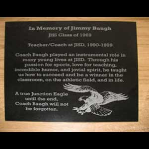 custom engraved memorial plaque