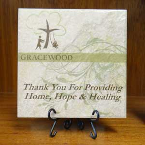 custom made thank you plaque
