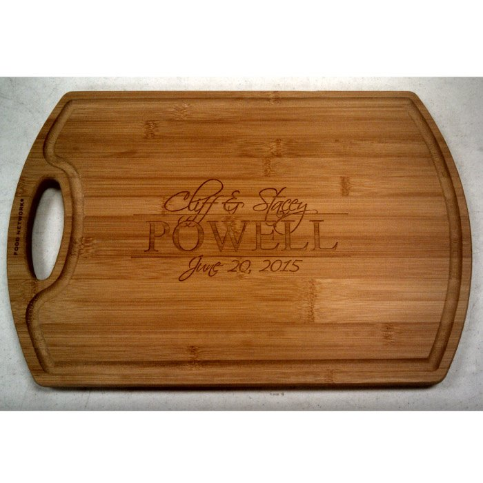 custom engraved cutting board - realtor gift