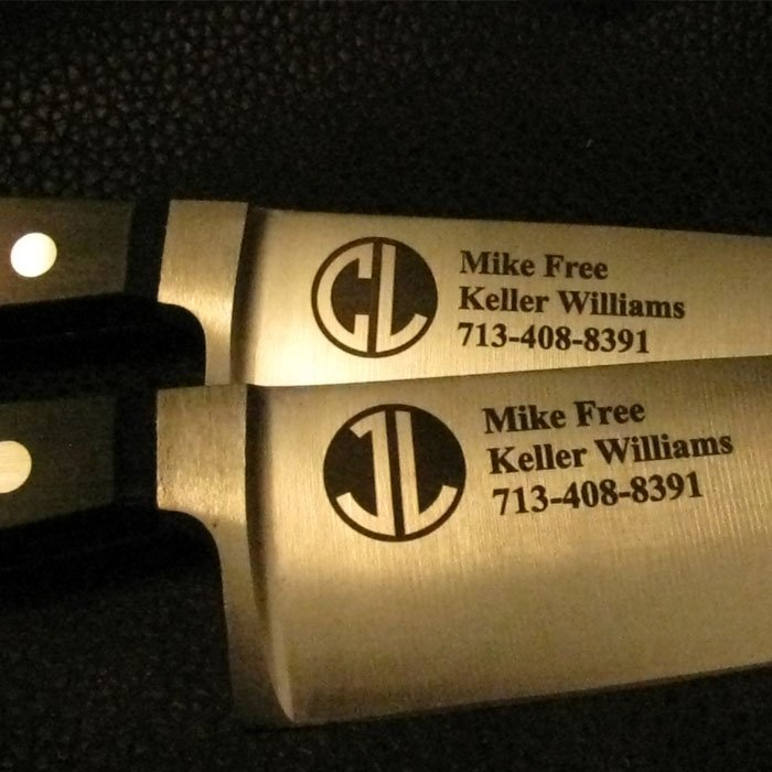 branded personalized engraved chefs knife