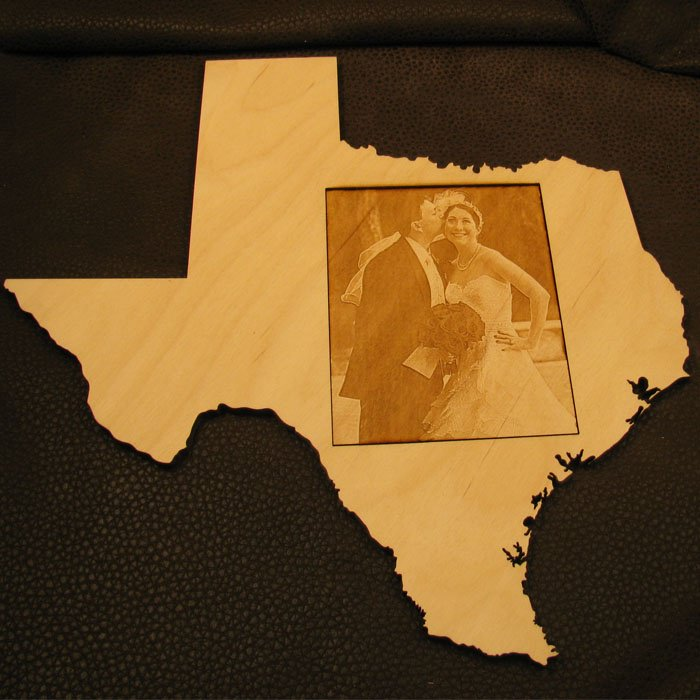photo engraved wood art