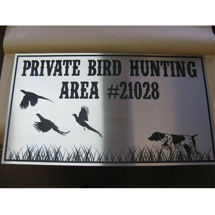 custom laser engraved stainless steel sign