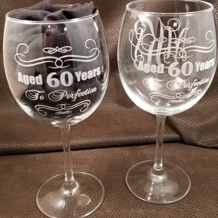 custom personalized wine glass