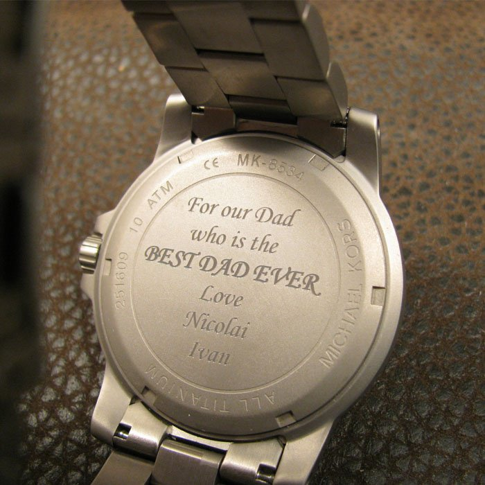 personalized engraved watch - fathers day gift