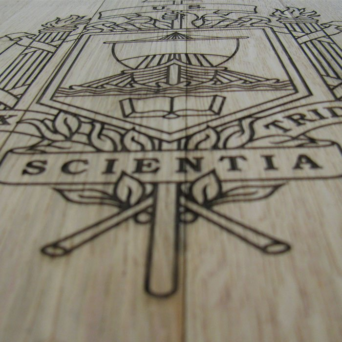 custom pyrography - table woodburning