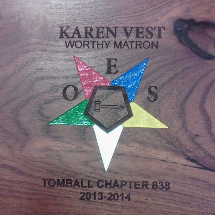 custom engraved personalized color printed wood plaque