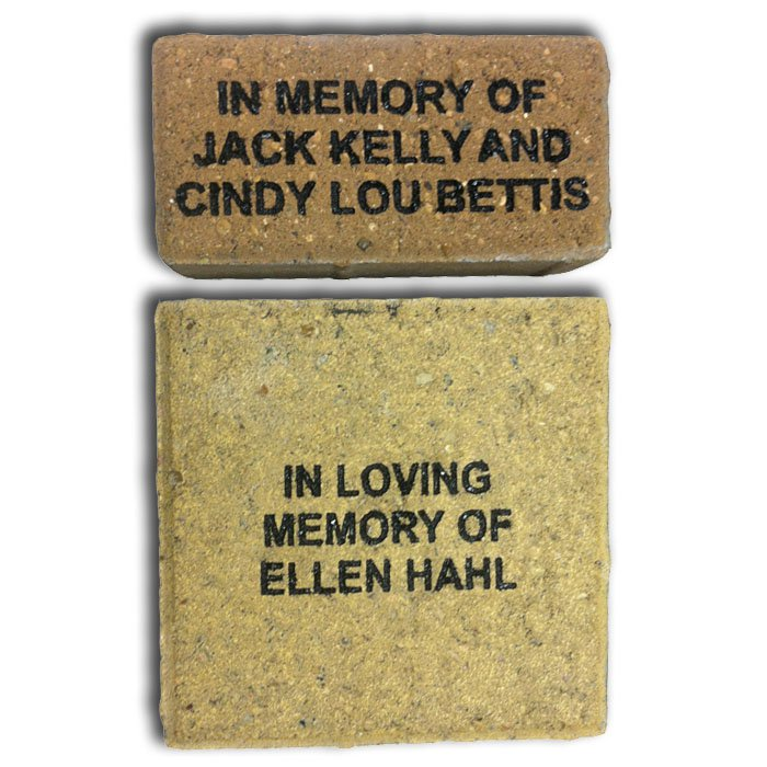 custom brick engraving