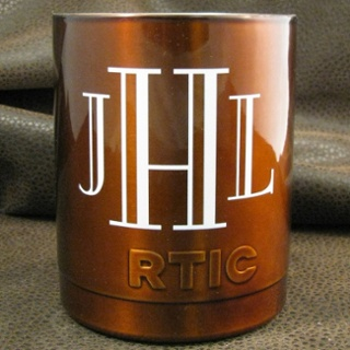 Niagra Engraved Font - Transparent Copper Powder Coat - Full Color Direct Printing