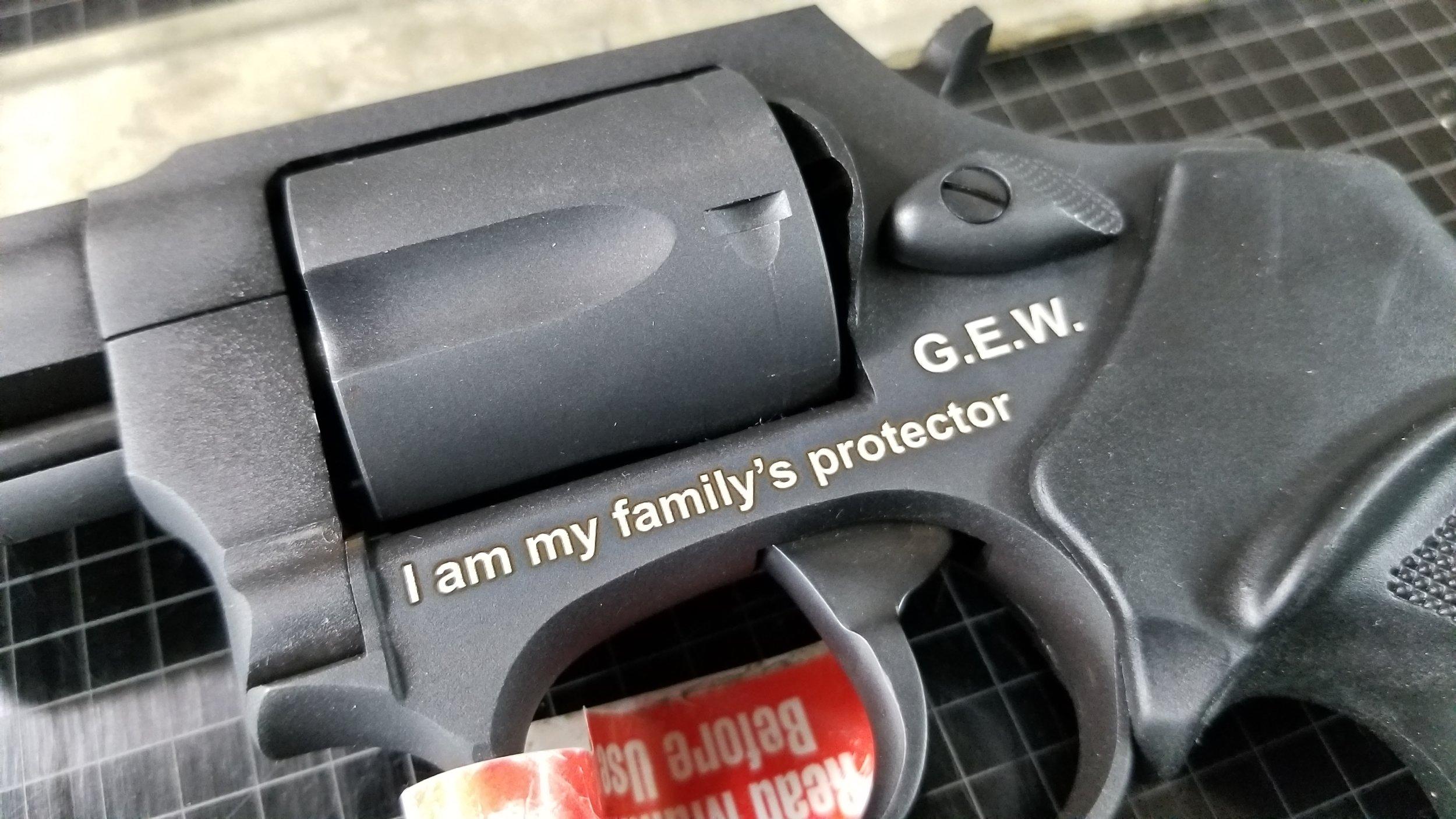 Engraved Revolver - Personalized Revolver - Customized Revolver - Firearm Engraving Projects - Engrave It Houston