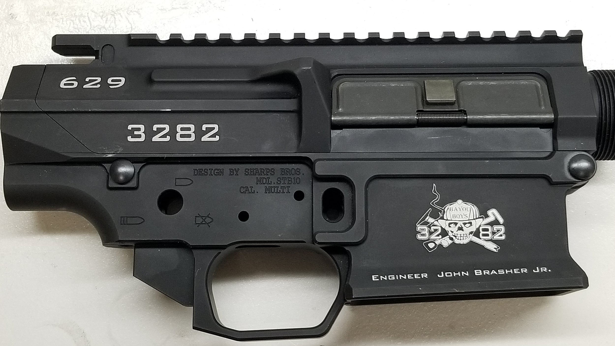 Engraved Assault Rifle - Personalized Assault Rifle - Custom Assault Rifle - Firearm Engraving Projects - Engrave It Houston