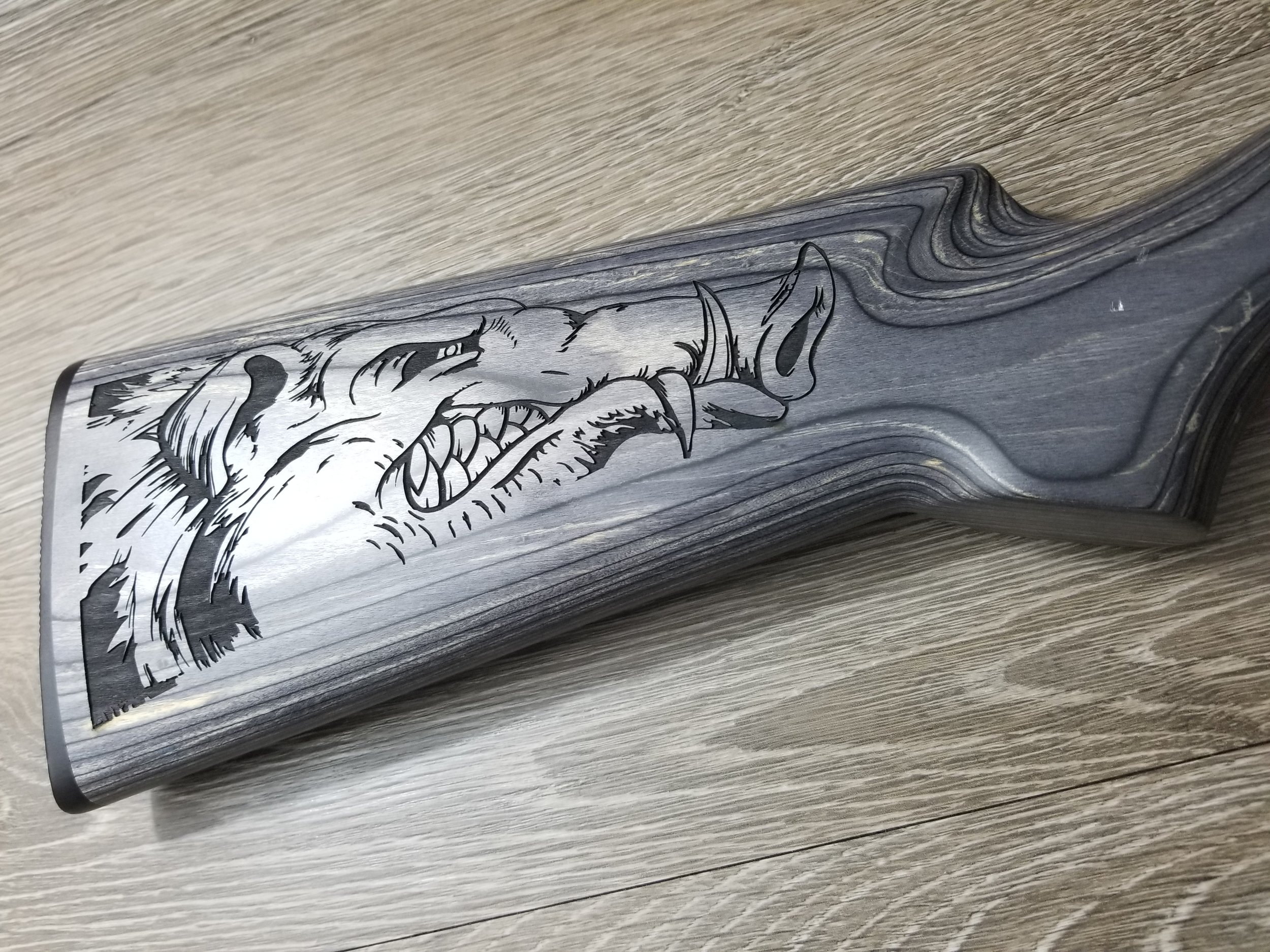 Personalized Rifle Stock - Engraved Rifle Stock - Personalized Firearms - Firearm Engraving - Firearm Engraving Projects - Engrave It houston
