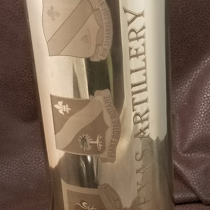Copy of Engraved Artillery Shell - Personalized Artillery Shell - Custom Projects - Engrave It Houston