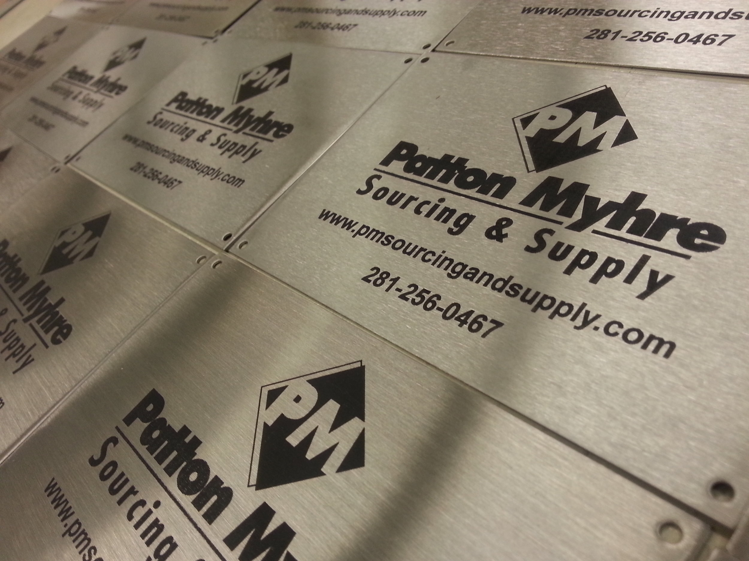 Industrial Marking - Stainless Steel Plates - Engrave It Houston