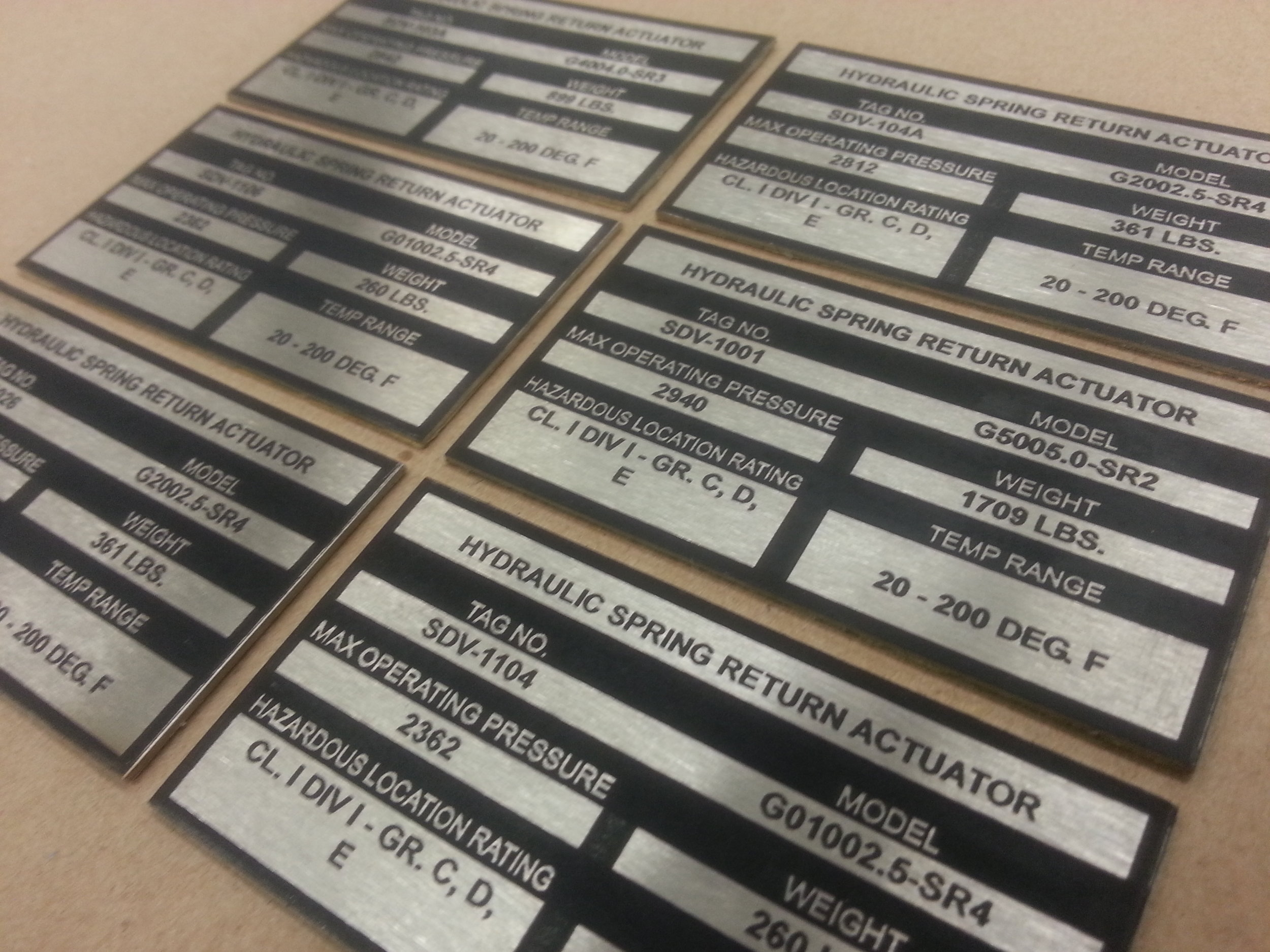 Industrial Marking - Custom Metal Plates - Engrave It Houston