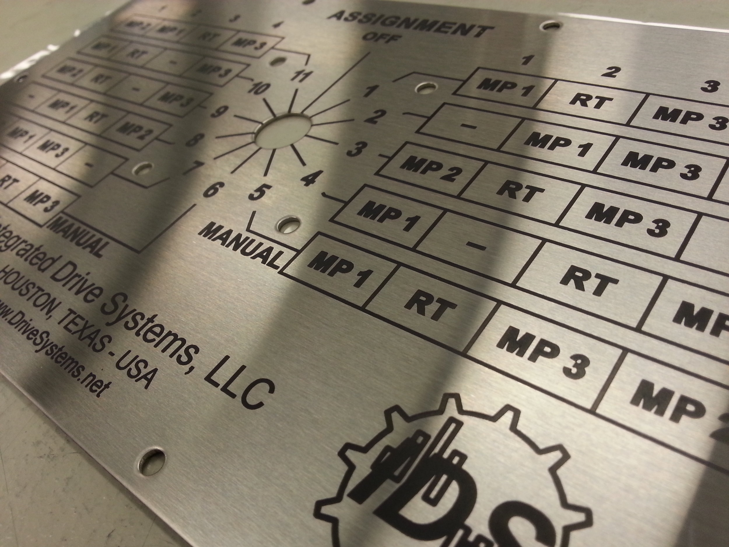 Control Panel Engraving - Industrial Engraving - Engrave It Houston