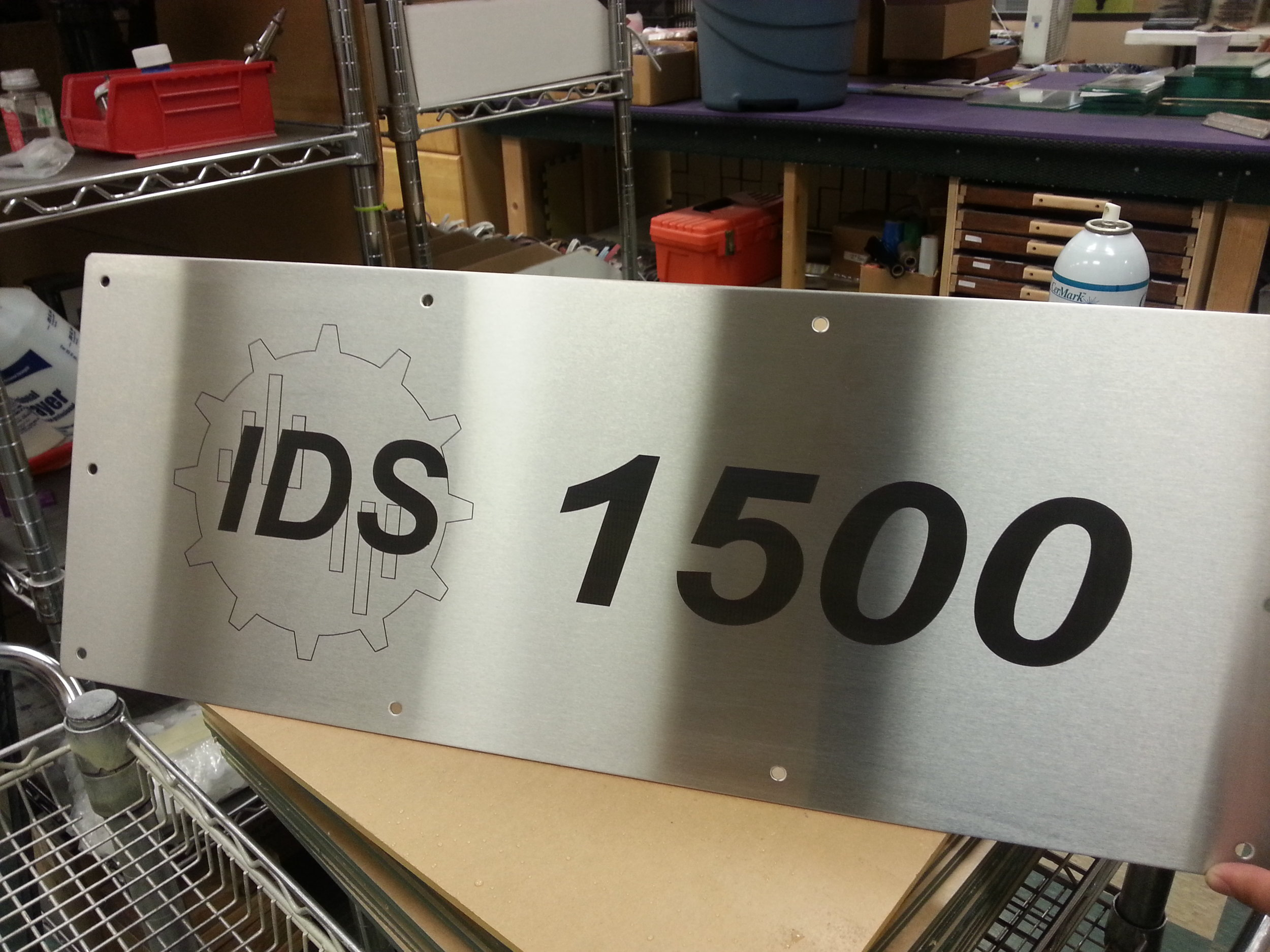 Industrial Marking - Custom Steel Signs - Engrave It Houston