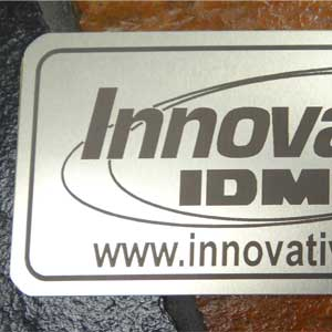 Industrial Marking - Stainless Steel Signs - Engrave It Houston