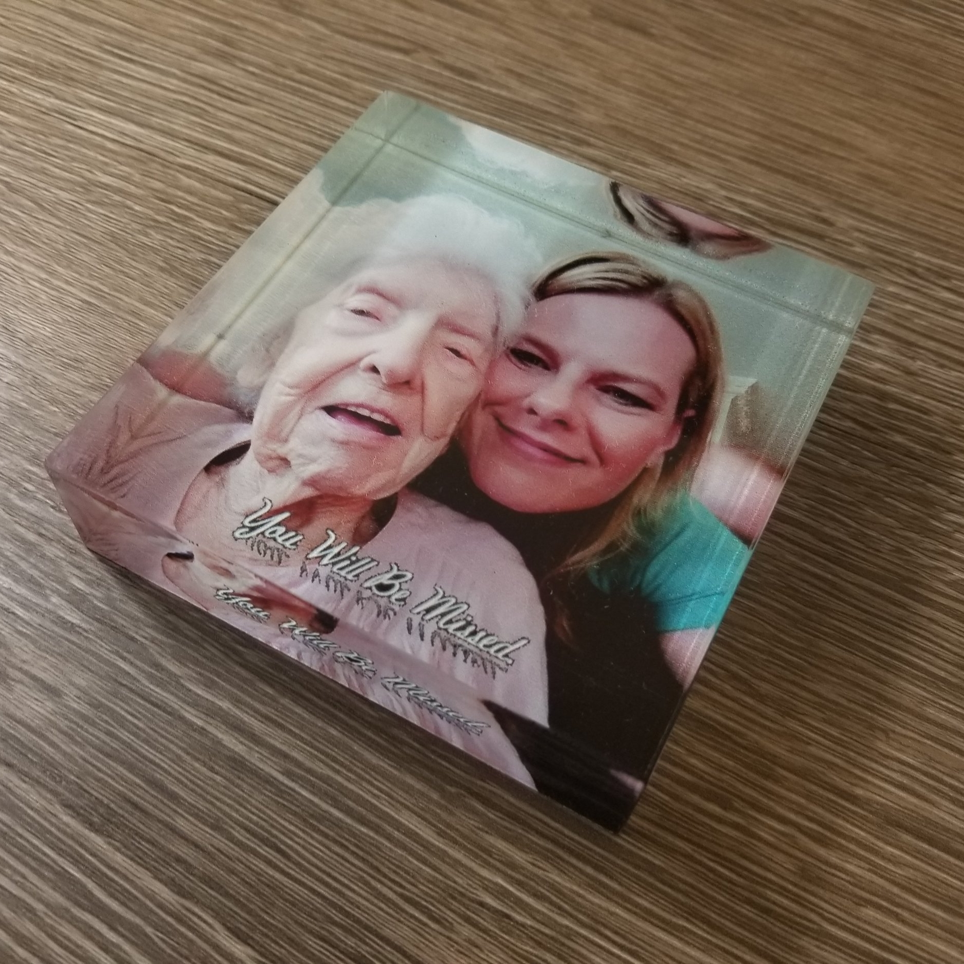 Copy of Custom Photo Cube - Personalized Photo Cube - Direct Print Photo Cube - Full Color Photo Cube - Custom Projects - Engrave It Houston