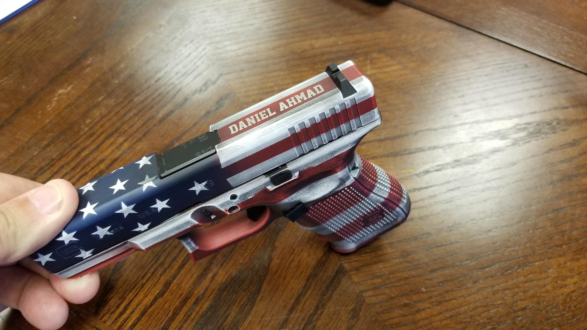 Pistol Engraving - Pistol Customization - Pistol Personalization - Engraved Pistol - Engraved handgun - Firearm Engraving Projects - Engrave It houston