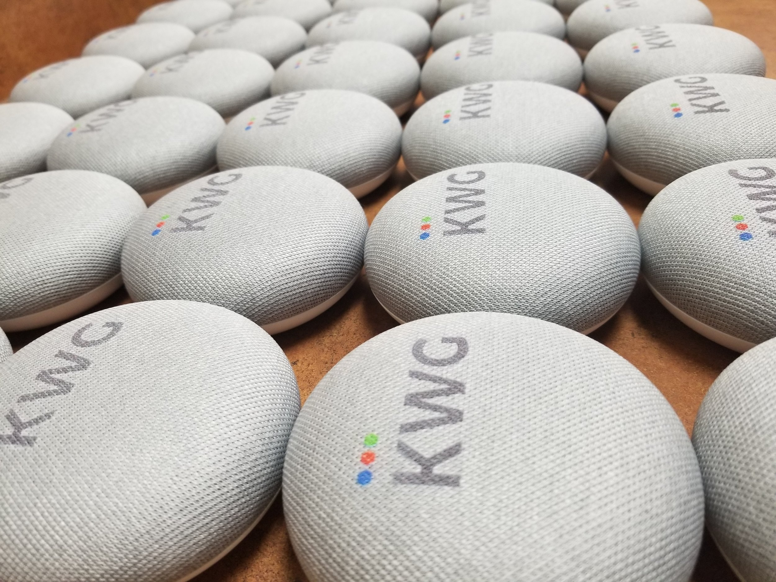 Branded Google Home Minis - by Engrave It Houston