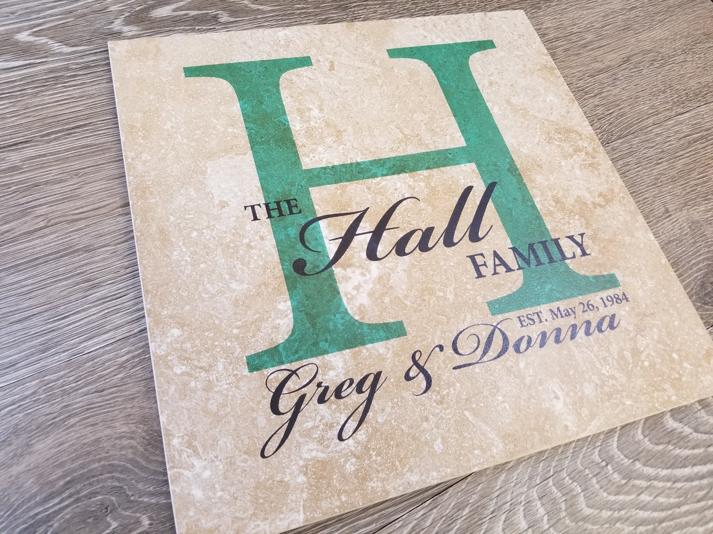Custom Printed Tile - by Engrave It Houston