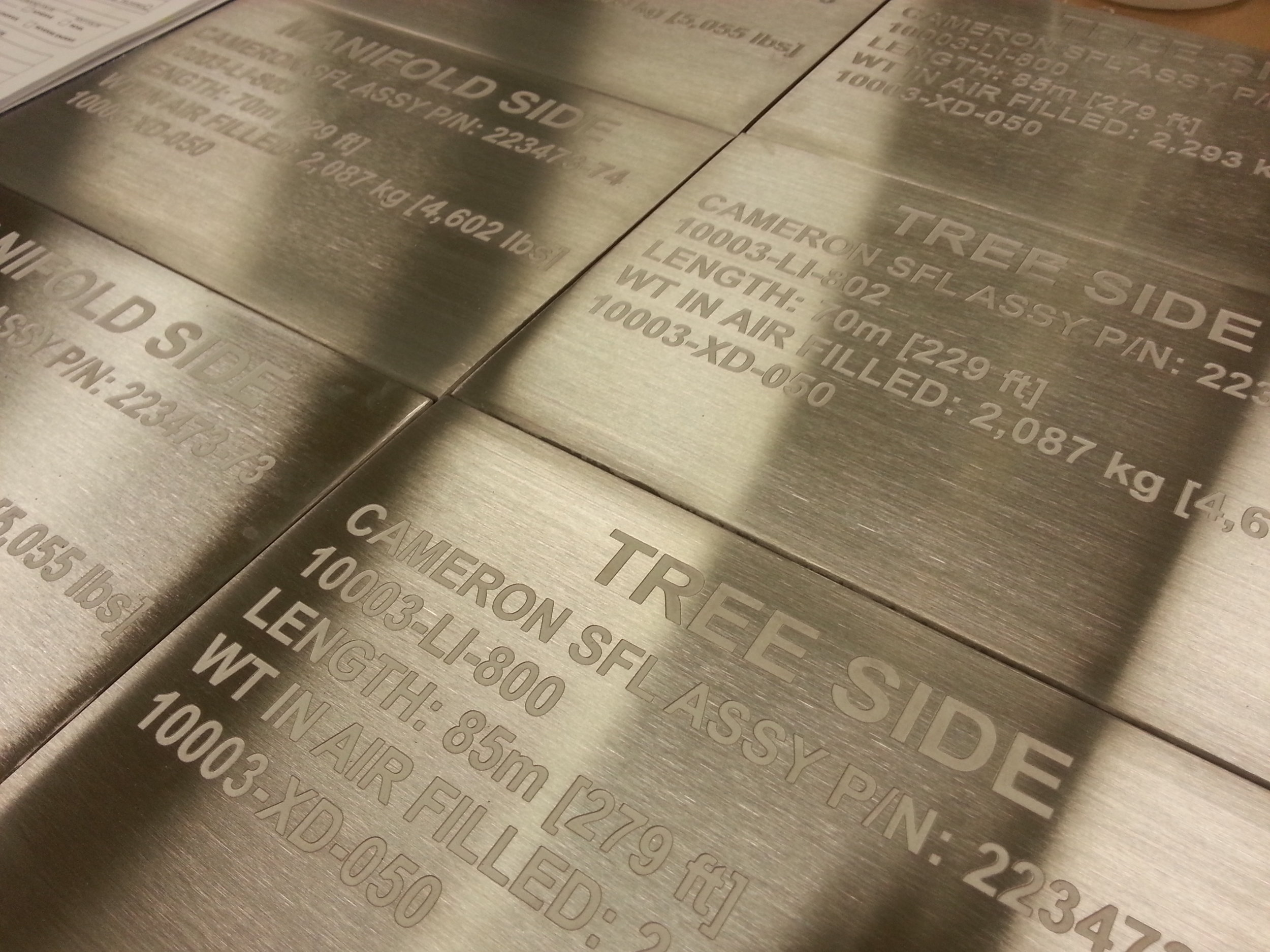 Engraved Industrial Tags - Engrave It Houston