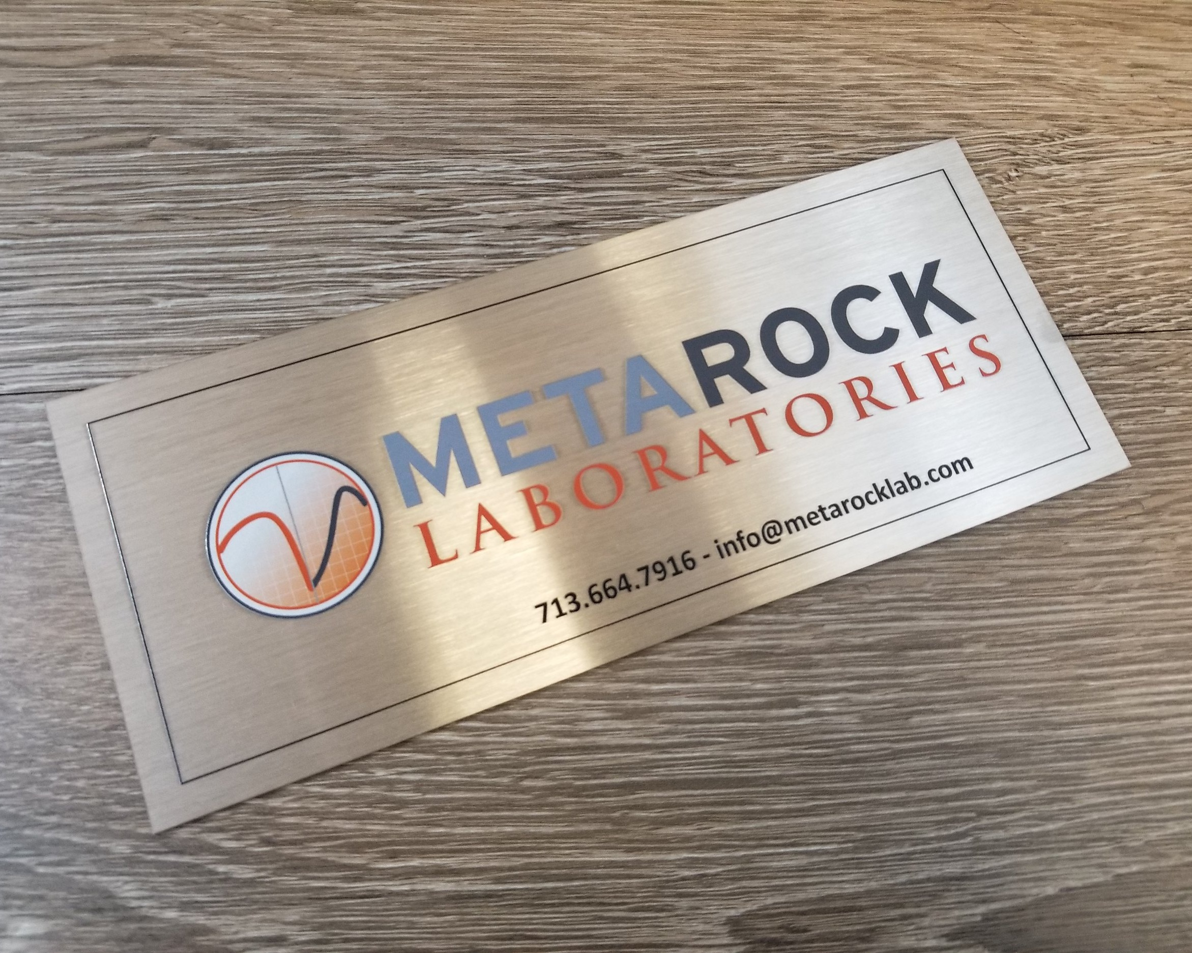 Metal Name Plates - Metal name plates in a variety of substrates including stainless steel and aluminum. Laser etched, engraved, marked, or direct printed according to your specifications.