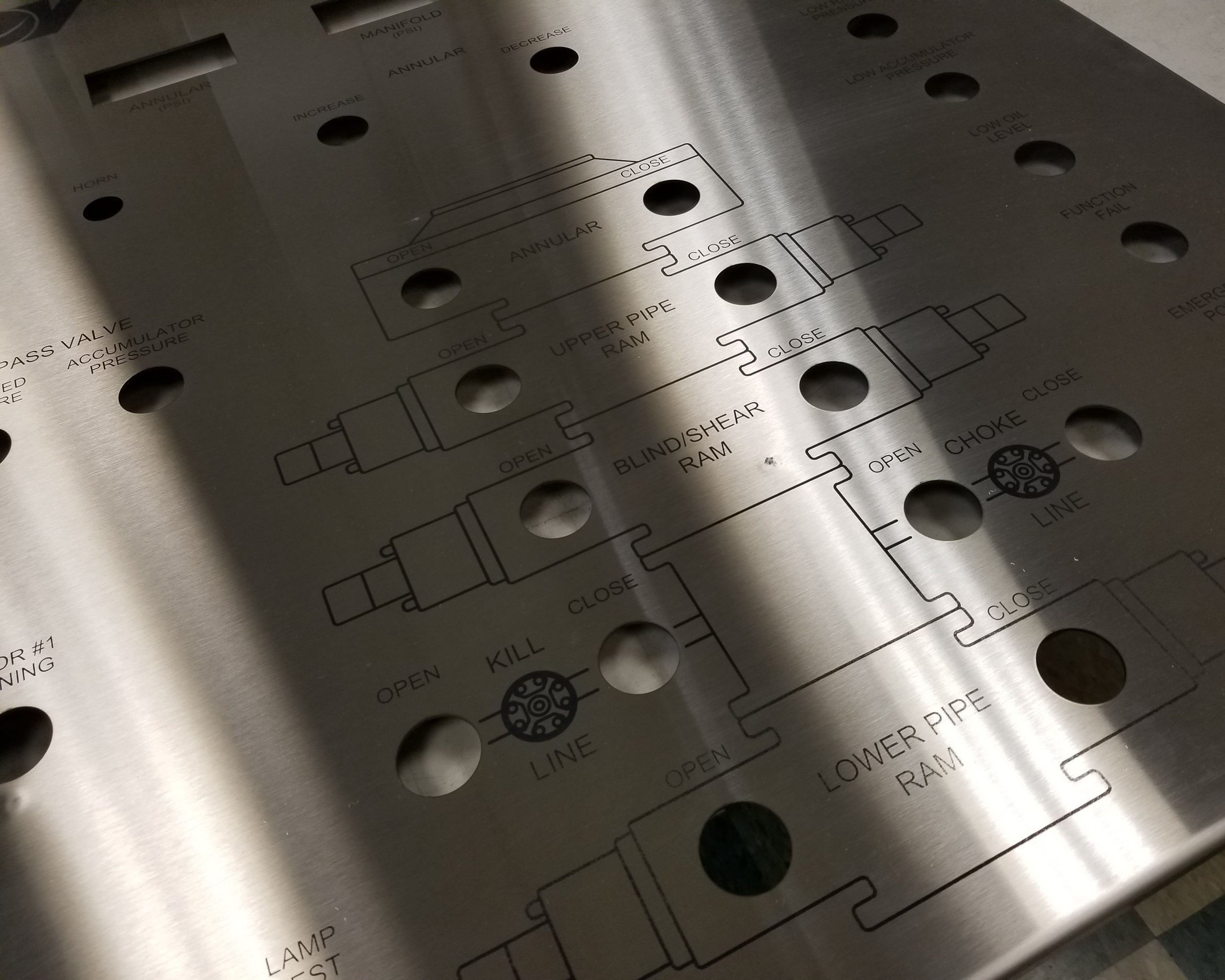 Enclosure Panels - Custom panels or covers to fit enclosures of all sizes. Laser engraved, marked, etched, or direct printed according to your technical drawings. Provide your own or have us manufacture one for you.