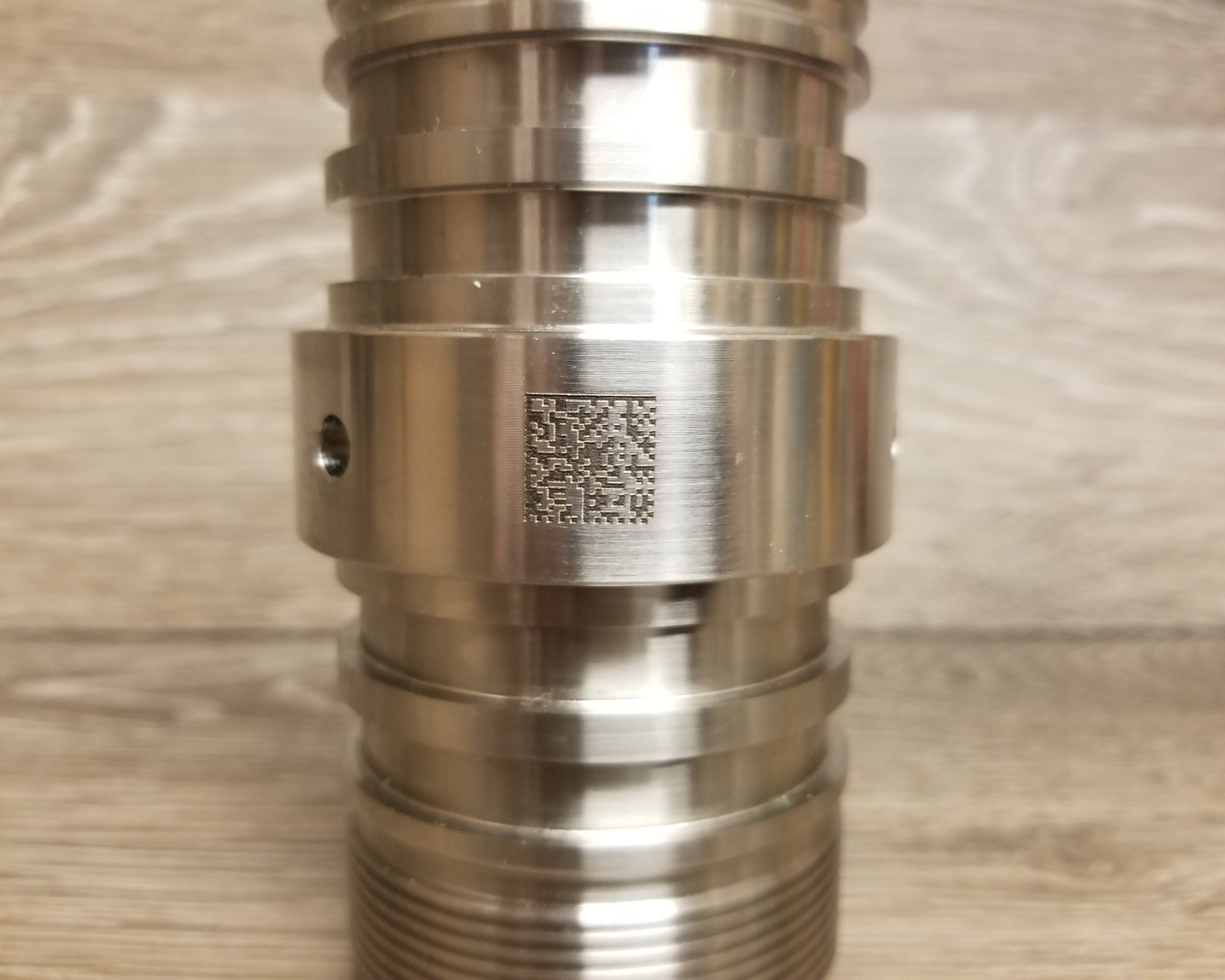 QR Codes - Add fully scan-able QR Codes to any part, piece, or material. Laser engraving, marking, etching, or direct printing is available based on the specifications or the project.