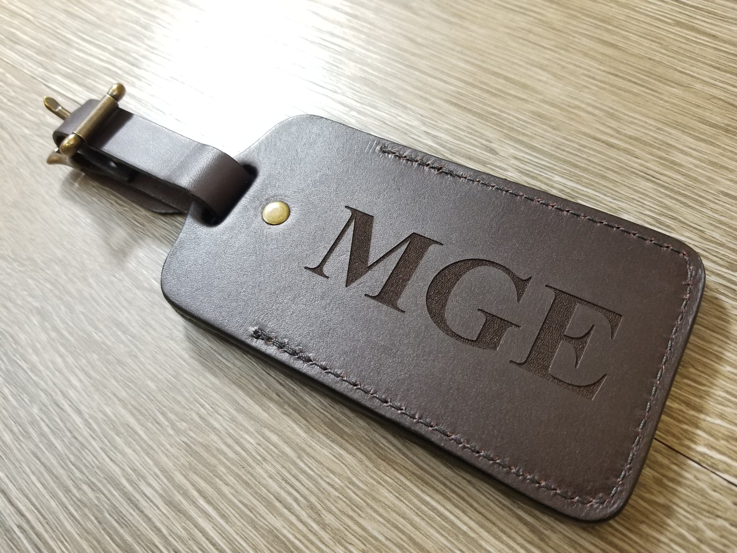 monogrammed Leather - Have your monogram laser engraved, marked, or etched on almost any leather item.