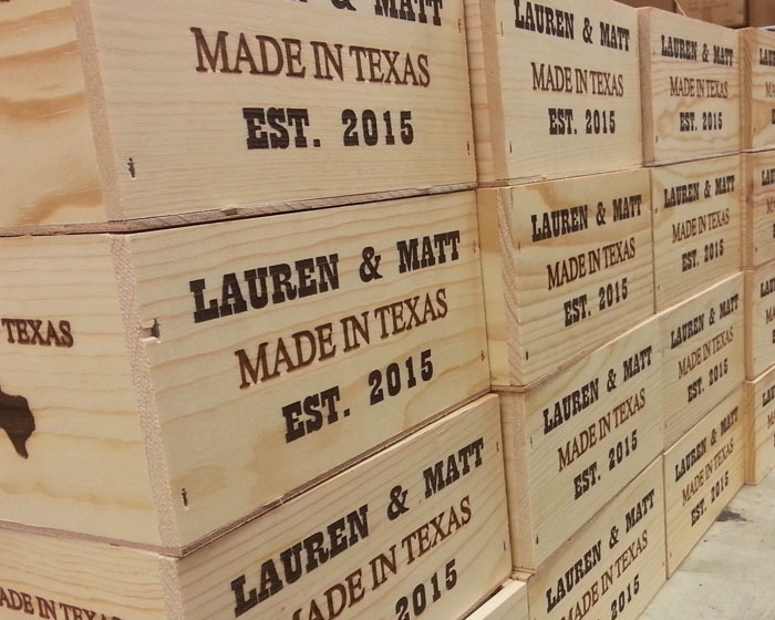Custom Wood Engraving - Have your design or message laser engraved, marked, or etched into any variety of wood.
