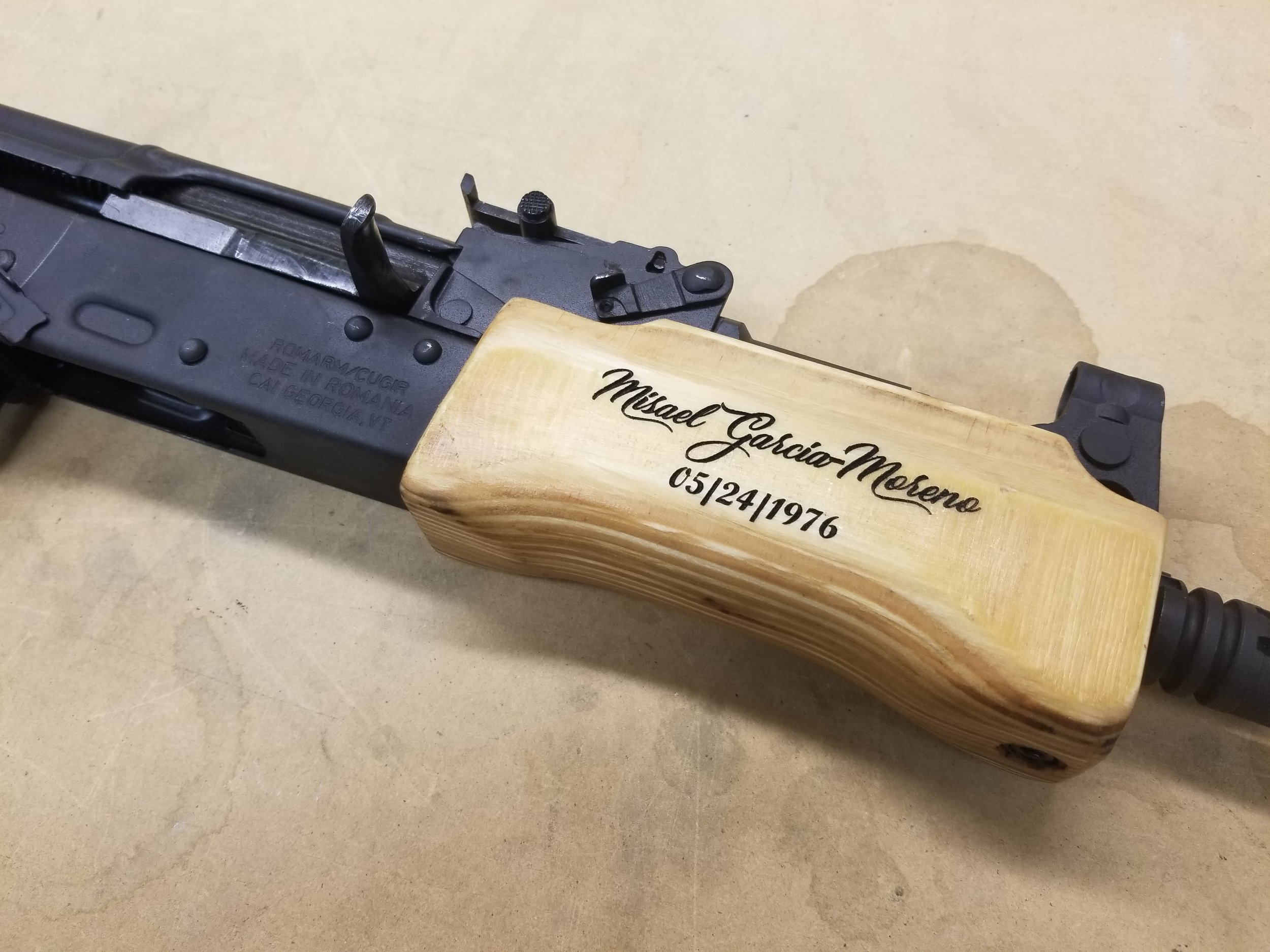 Custom Engraved SBR - Personalized SBR - Firearm Projects from Engrave It Houston