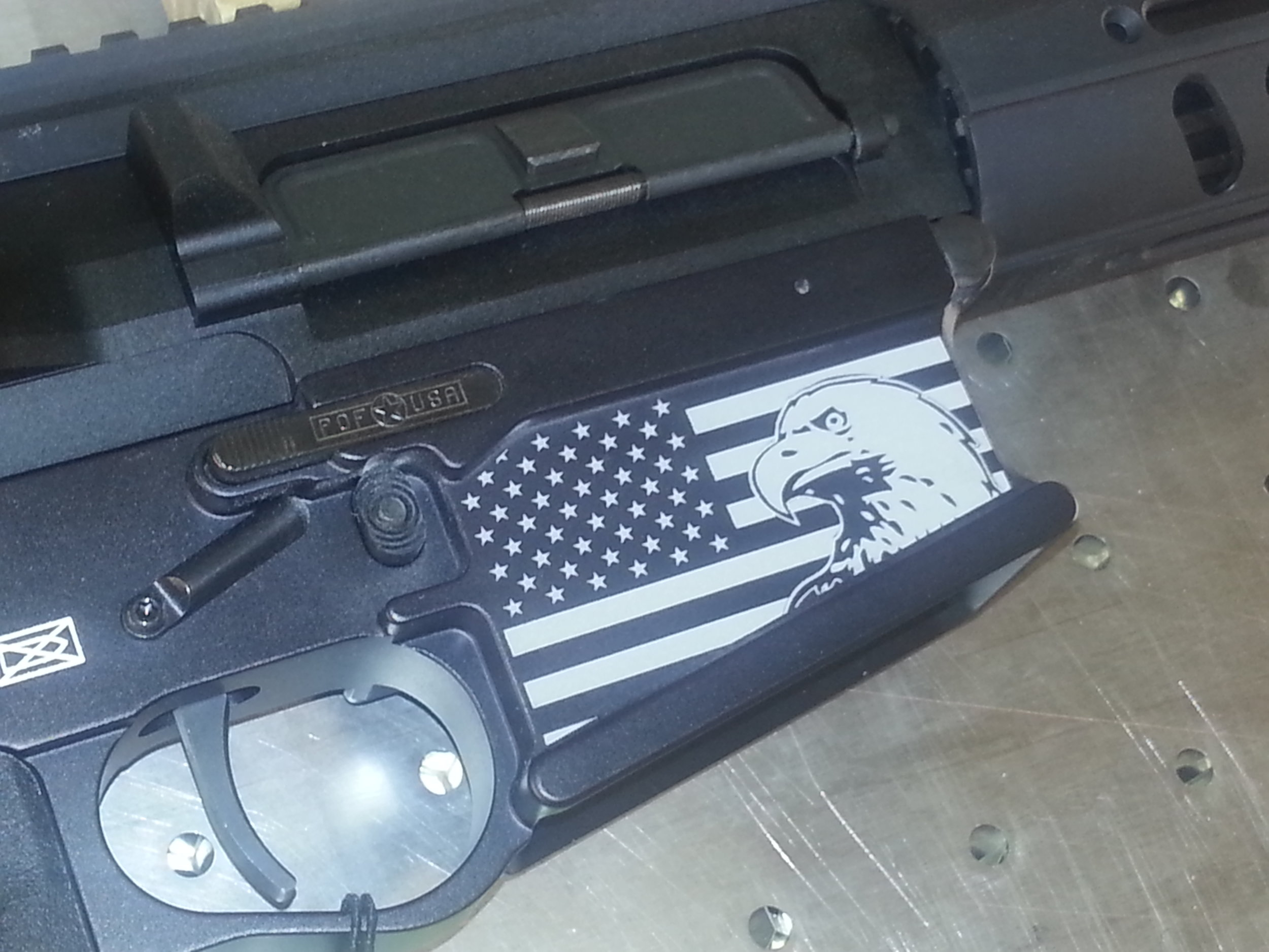 Custom Engraved Assault Rifle - Personalized Assault Rifle - Firearm Projects from Engrave It Houston